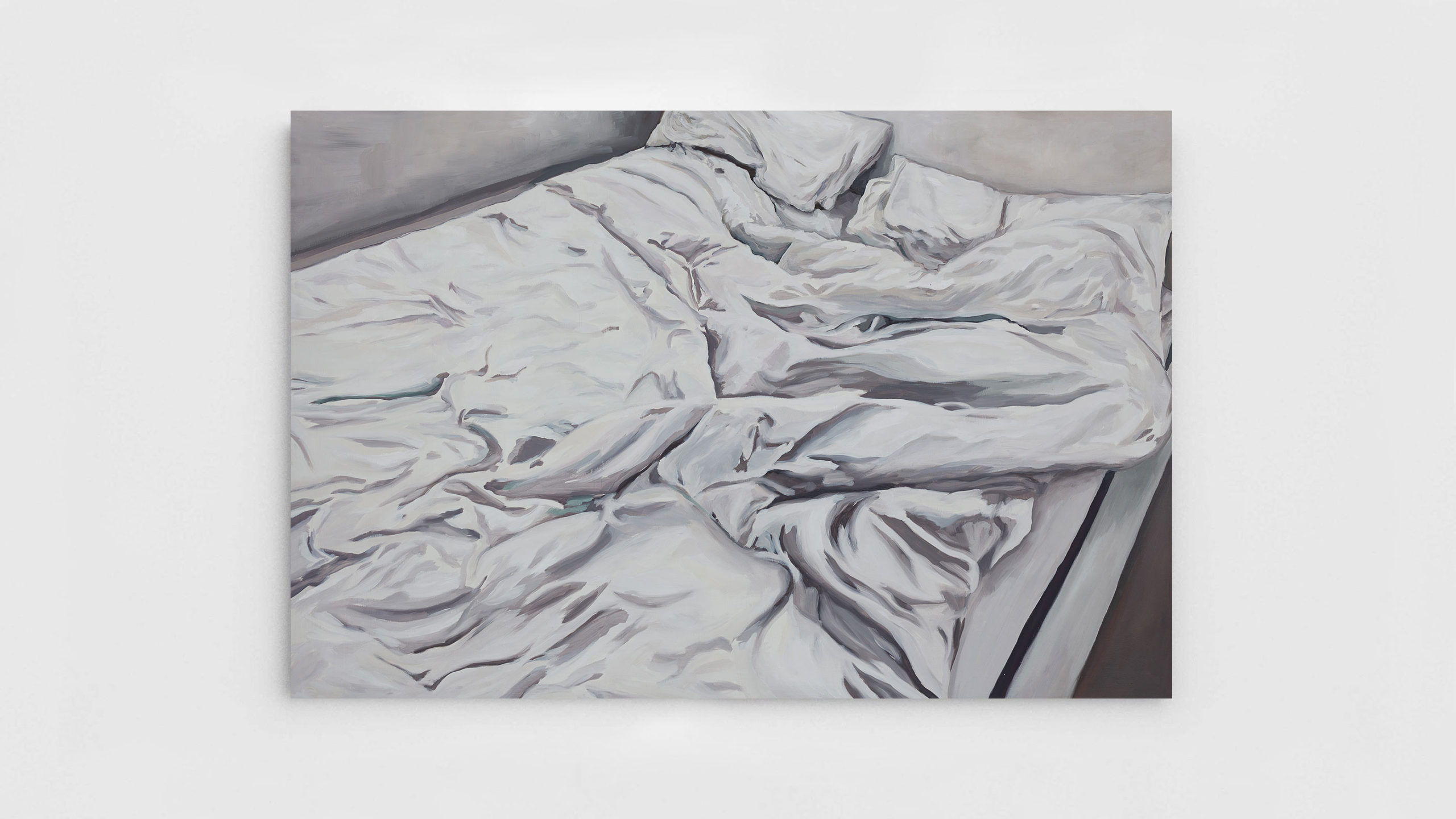 Painting of Landscape of an unmade bed by Victor Gounel