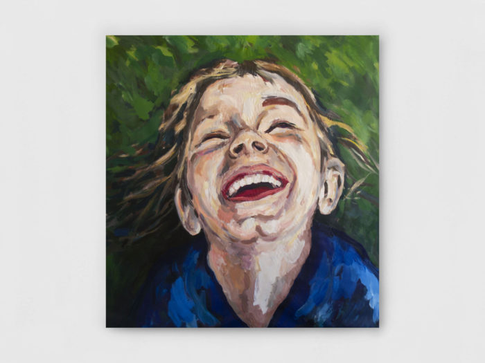 Painting of Portrait of a child laughing by Victor Gounel